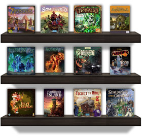 Put games on your profile shelves
