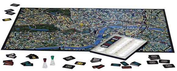 Scotland Yard game in play