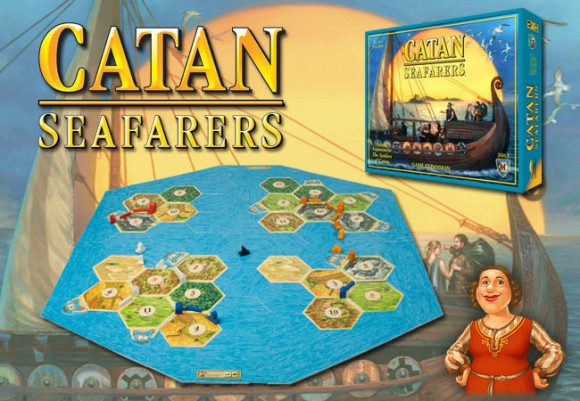 Catan: Seafarers game in play