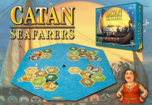 Catan: Seafarers game in play