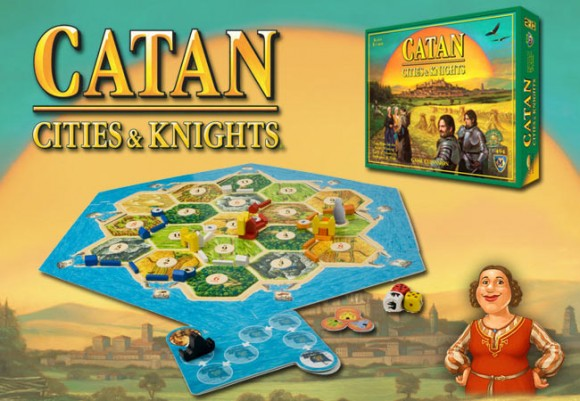 Catan: Cities & Knights game in play