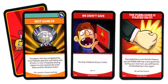 Game Developerz random event cards