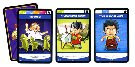 Game Developerz staff cards