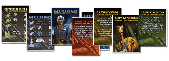 Battle Beyond Space cards