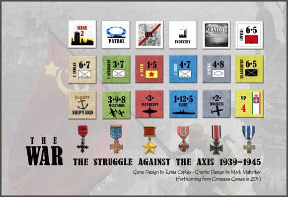 The War: Europe 1939-1945 counters