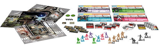 Zombicide: Angry Neighbors components