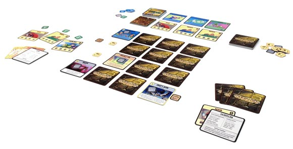 DungeonCraft card game in play