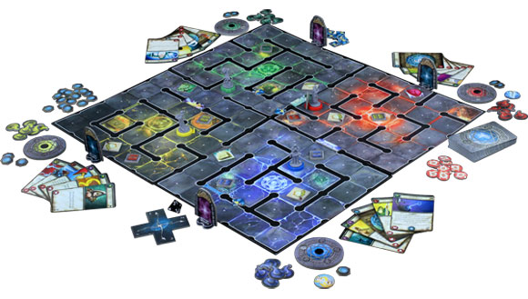 Wiz-War board game in play