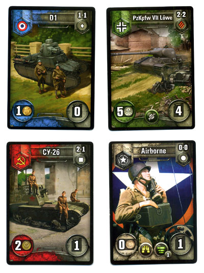 World of Tanks: Rush vehicle cards