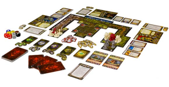 Descent: Journeys in the Dark Second Edition game layout