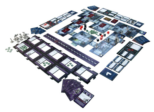 Level 7: Omega Protocol board game in play