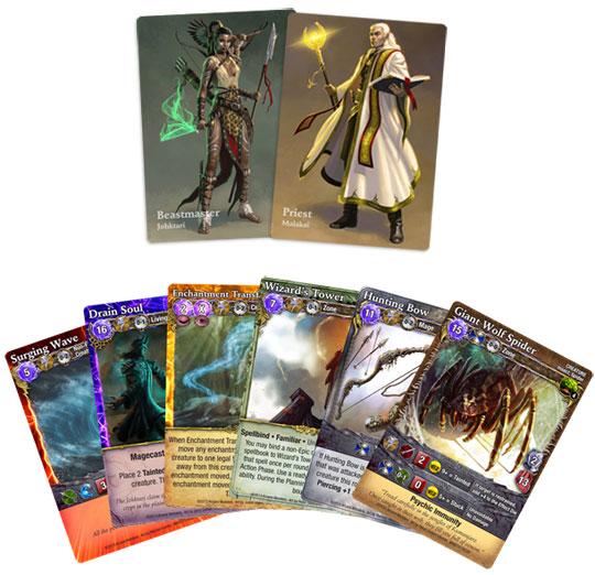 Mage Wars Kumanjaro card samples