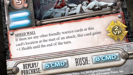 Warmachine: High Command card close-up