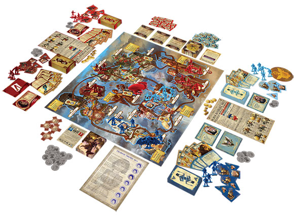 BioShock Infinite: the Siege of Columbia board game in play