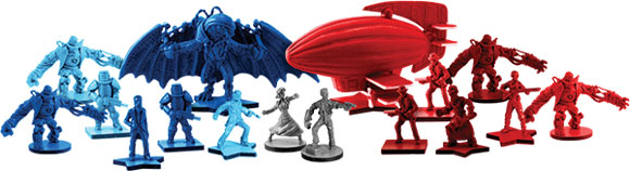 BioShock Infinite: the Siege of Columbia board game miniatures