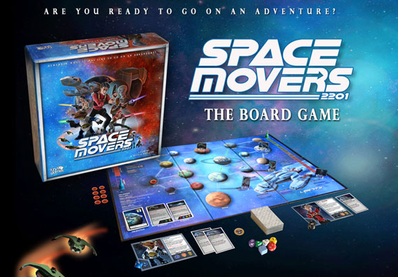 Space-Movers game components