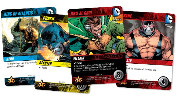 DC Comics Deck Building Game cards