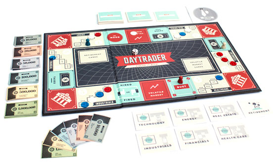 Daytrader board game in play