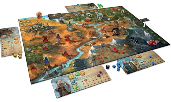 Legends of Andor game in play