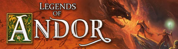 Legends of Andor board game title