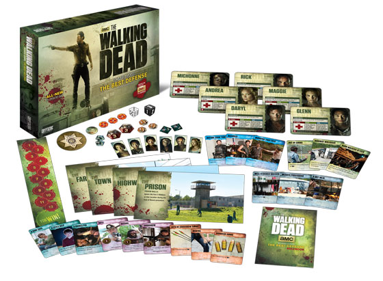 The Walking Dead Board Game: The Best Defense components