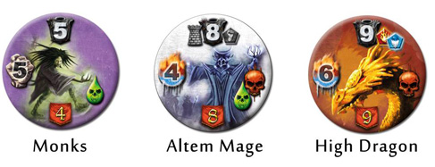 mage knight tokens