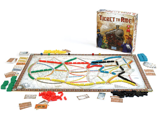 Ticket to Ride game in play