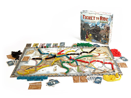 Ticket to Ride Europe box and contents