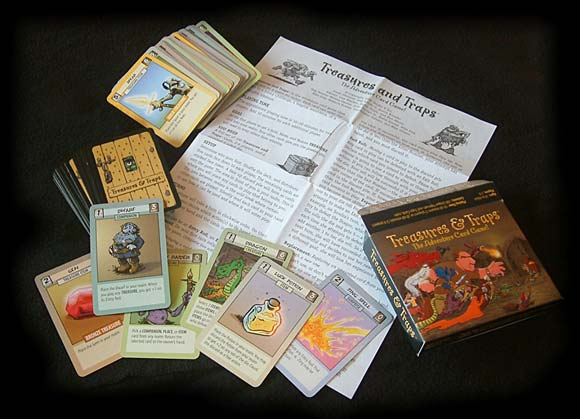 Treasures and Traps game components