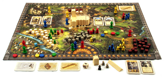 The Pillars of the Earth game in play