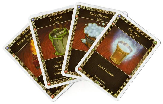 Red Dragon Inn drink cards