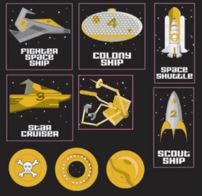 Amazing Space Adventure Game Pieces