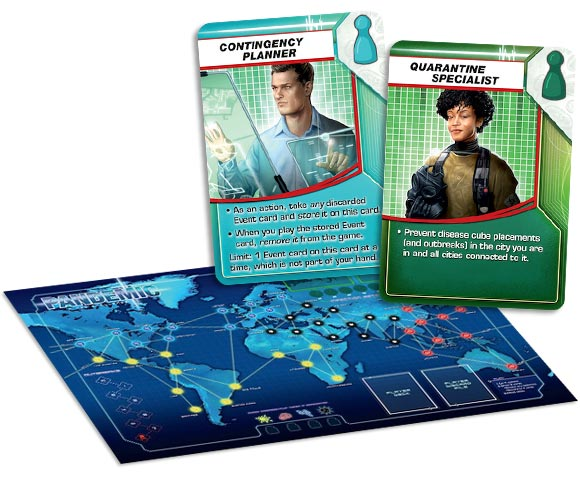 Pandemic 2nd edition board and new roles