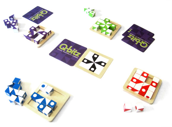 Q-bitz game in play