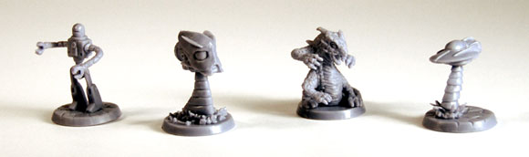 Conquest of Planet Earth board game figures