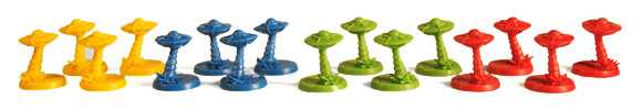 Conquest of Planet Earth board game player figures