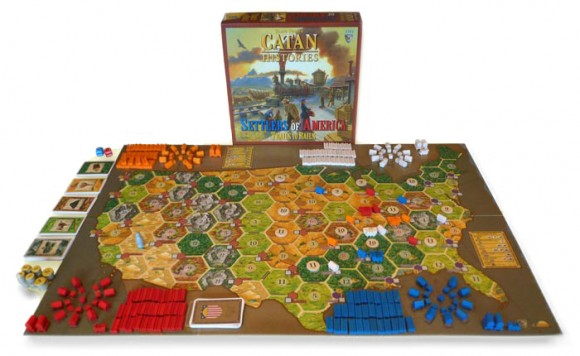 Settlers Of America game in play