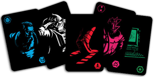 Escape From the Aliens in Outer Space cards