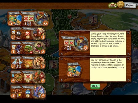 Small World iPad unit choice screen