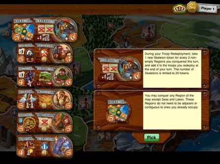 Small World iPad unit choice screen