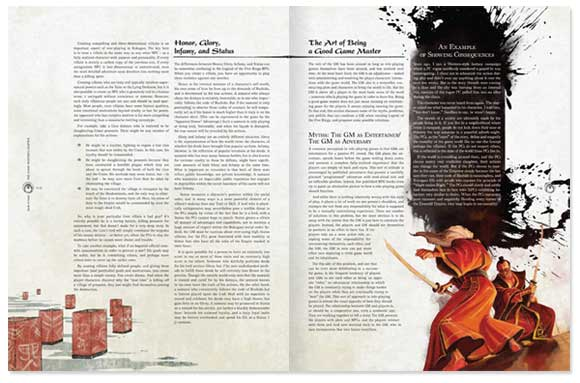 L5R RPG 4ed book sample