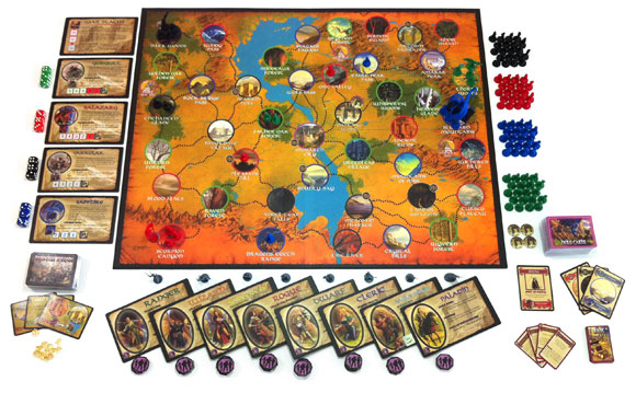 Defenders of the Realm game components