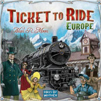 Ticket to Ride: Europe - Board Game Box Shot