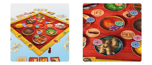 Safranito board game components