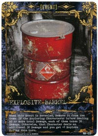 Resident Evil Deck Building Game barrel card