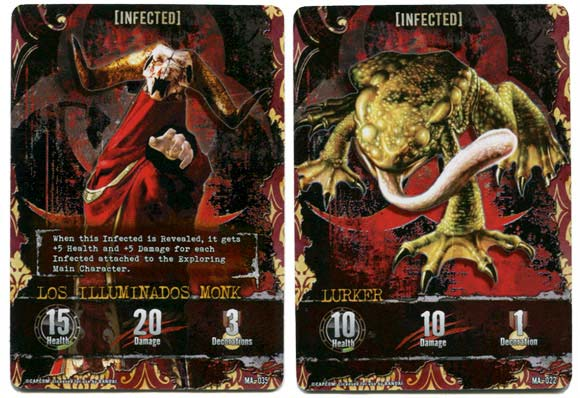 Resident Evil Deck Building Game infected mansion cards