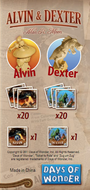 Ticket to Ride: Alvin and Dexter contents