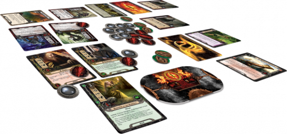 The Lord of the Rings: The Card Game in play