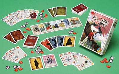 Samurai Sword game box and contents