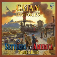 Settlers of America – Trails to Rails - Board Game Box Shot